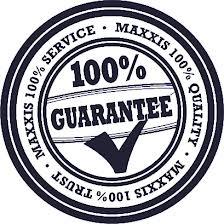 Maxxis 100% Lifetime guarantee