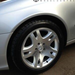 Diamond cut Mercedes E Class alloy wheel