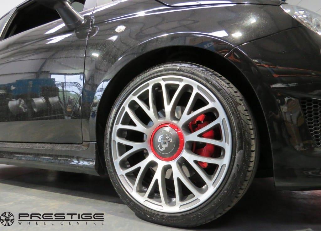 Fiat 500 Abarth Alloy Wheel Refurbishment Gunmetal Grey