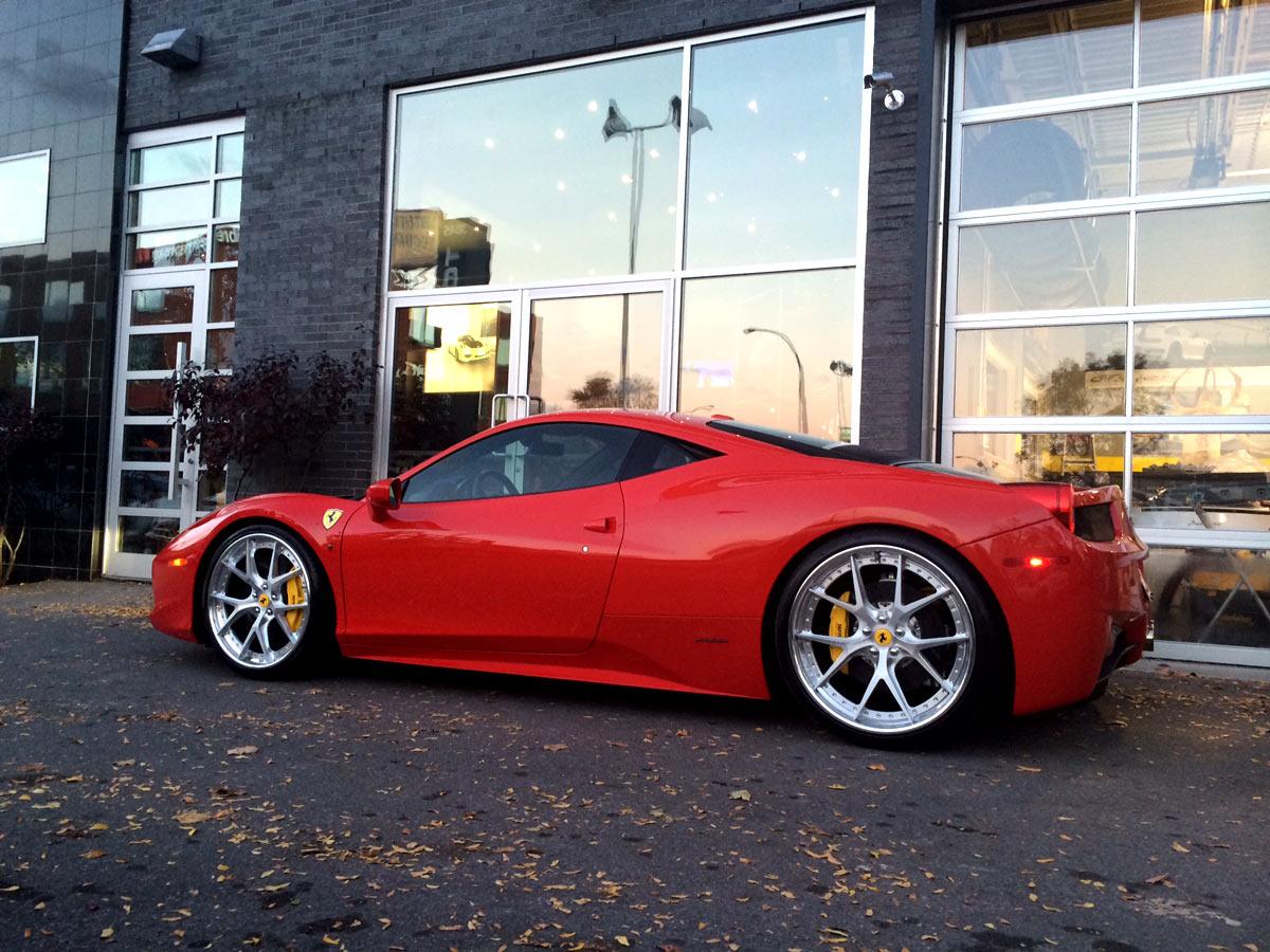Ferrari 458 Italia With Hre S101 In Brushed Clear Finish Prestige