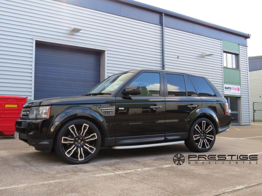"Range Rover Dealer Birmingham >> Range Rover Sport 2010 with Hawke Hermes 22"" alloy wheels   Prestige Wheel Centre News"