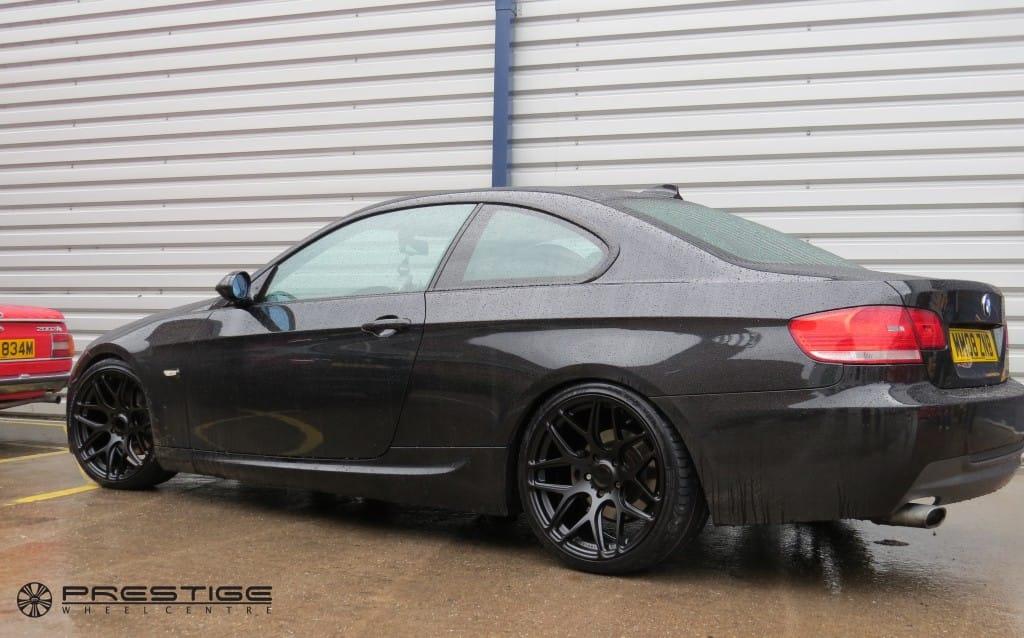 Bmw 3 series coupe on 19 ispiri isr10 wheels in matt black prestige wheel centre news - Black bmw 1 series coupe ...
