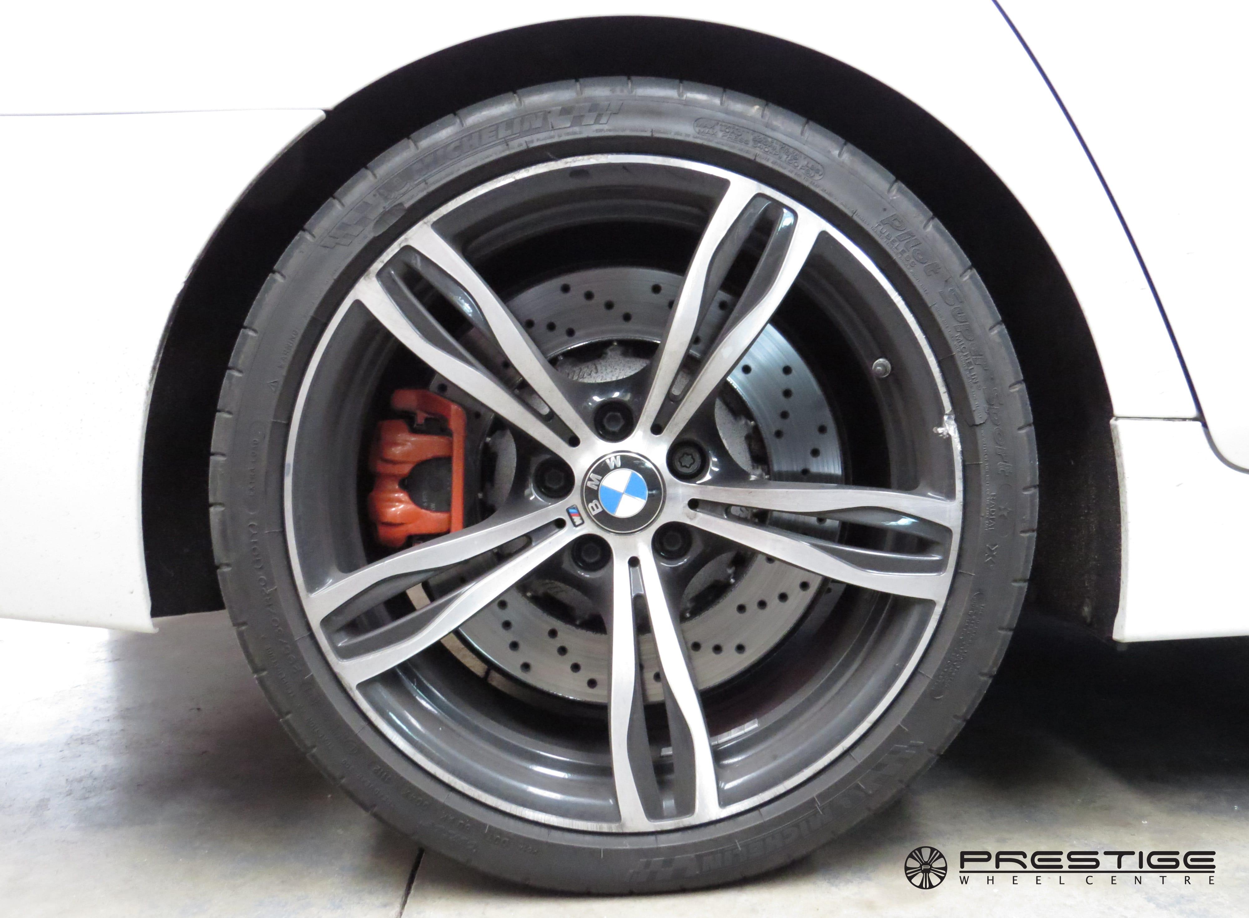 bmw m5 f10 alloy wheel refurbishment diamond cut   birmingham