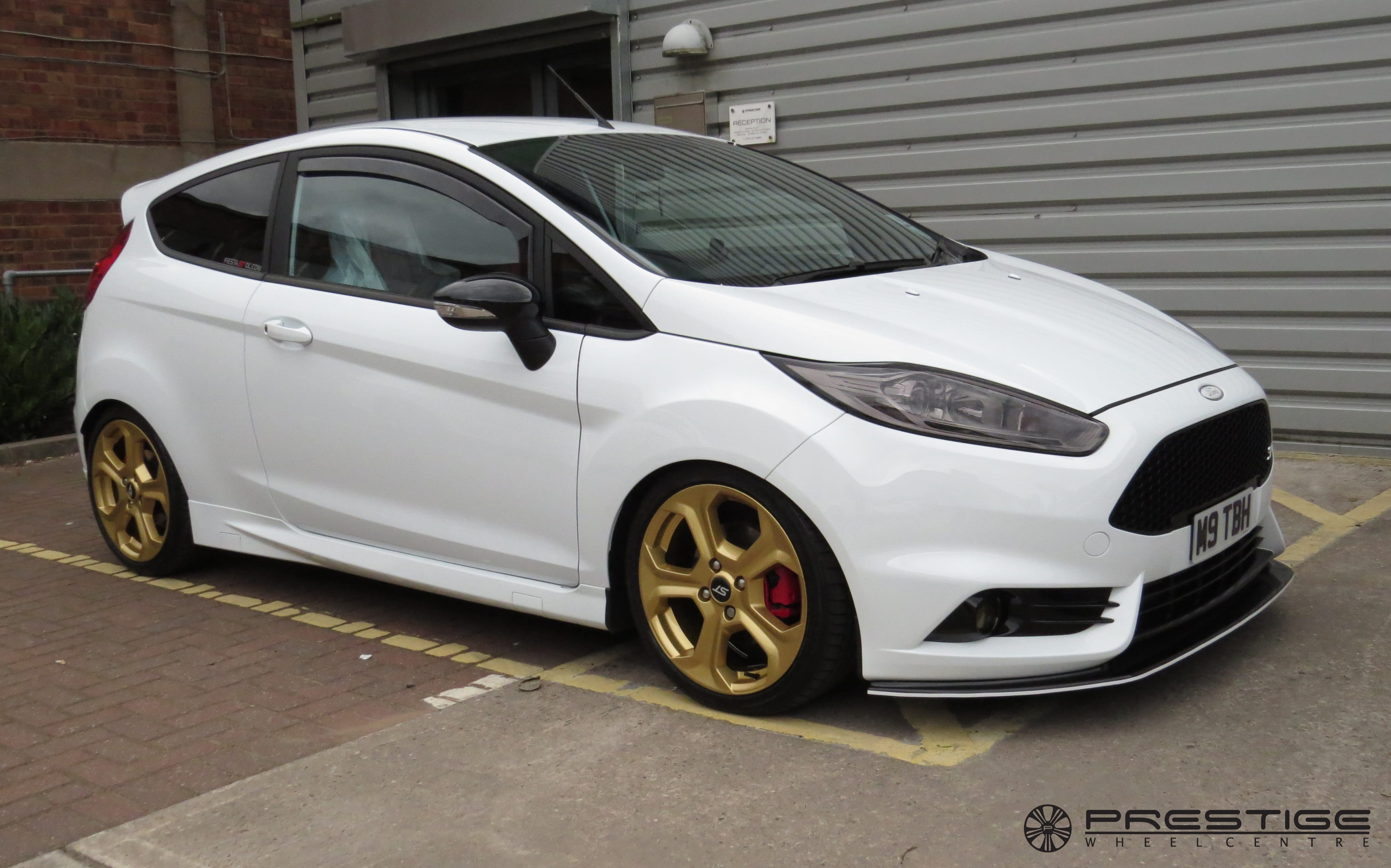 Ford Fiesta St With New Custom Orange Gold Finish Wheels