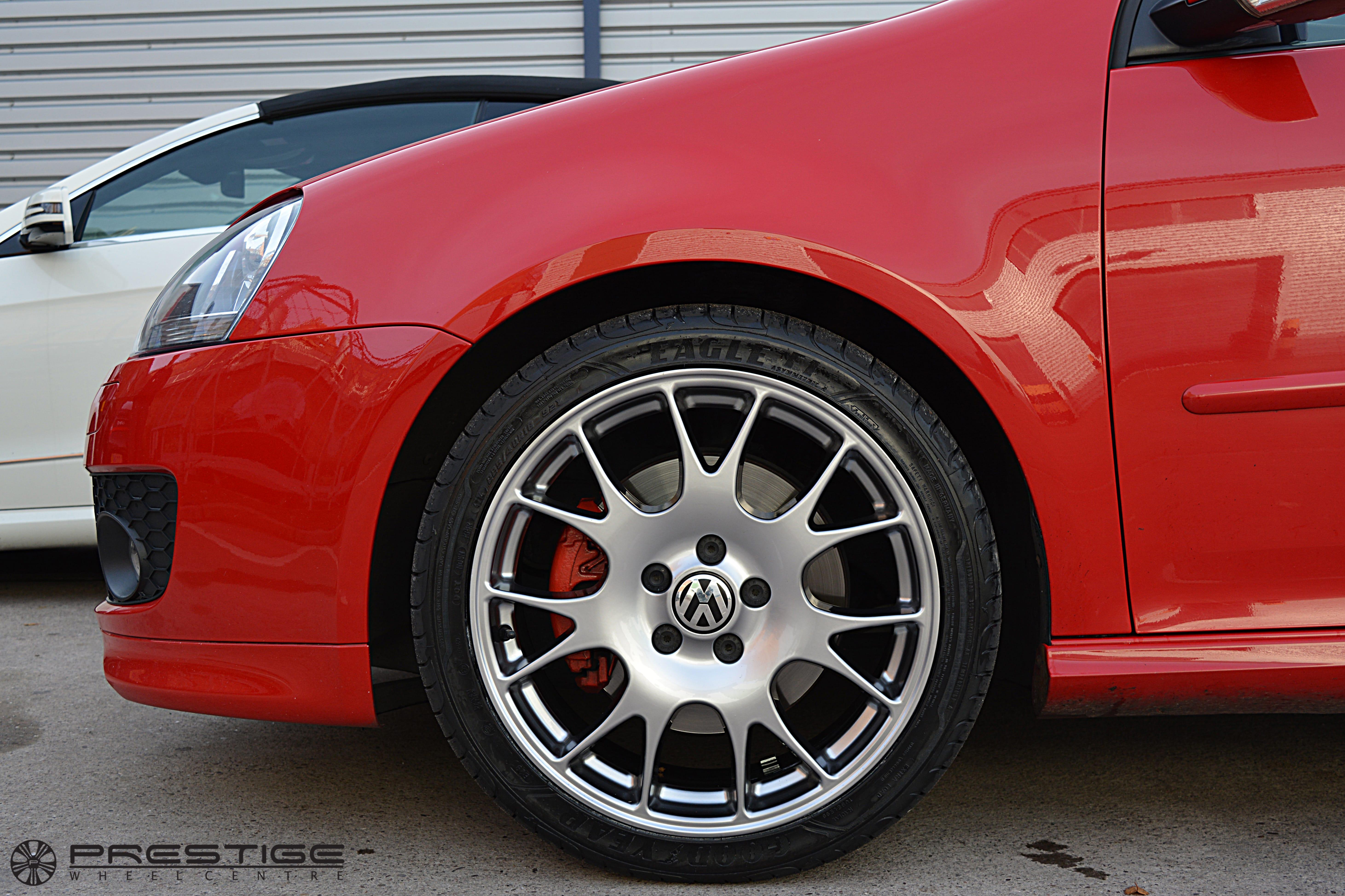 Vw Golf Gti Alloy Wheel Refurbishment Shadow Chrome